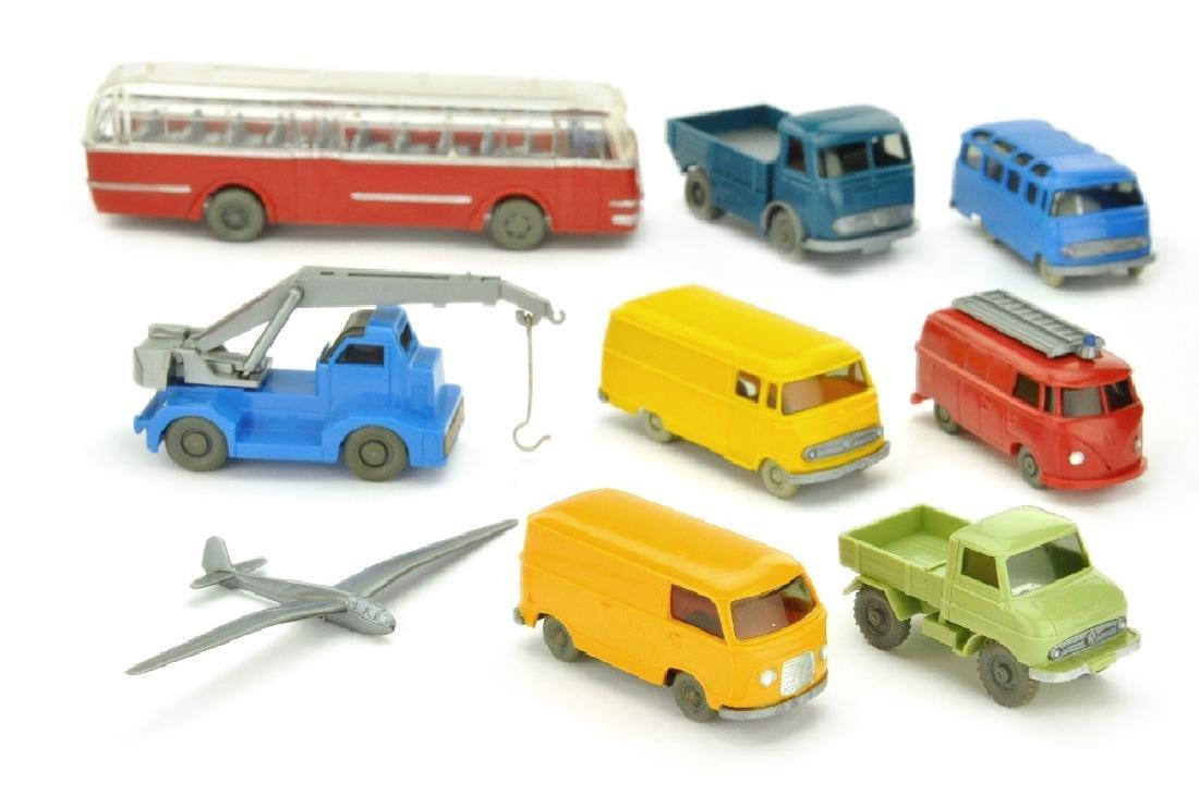 Konvolut 8+1 Modelle der 60er Jahre