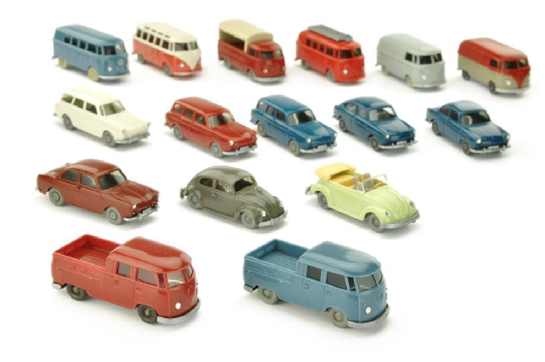 Konvolut 16 VW-PKW der 60er Jahre