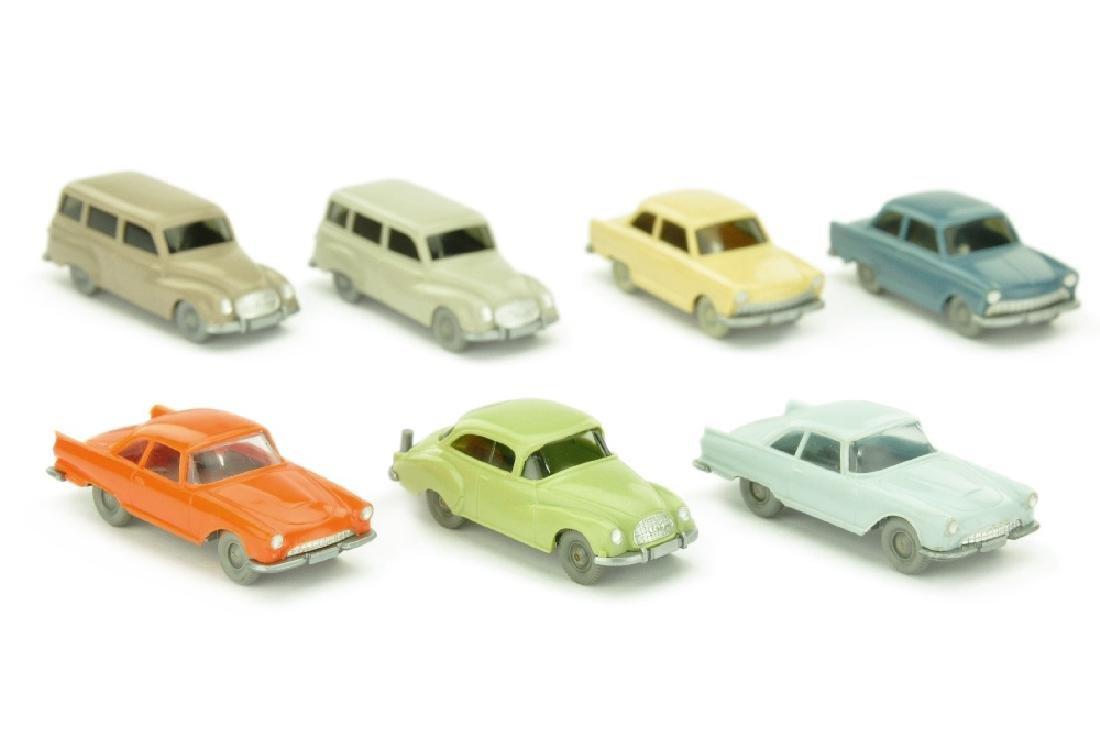 Konvolut 7 DKW-PKW der 60er Jahre