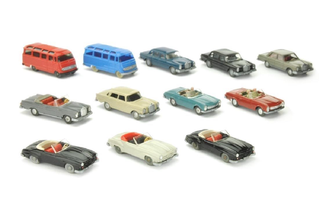 Konvolut 12 Mercedes-PKW der 60er Jahre