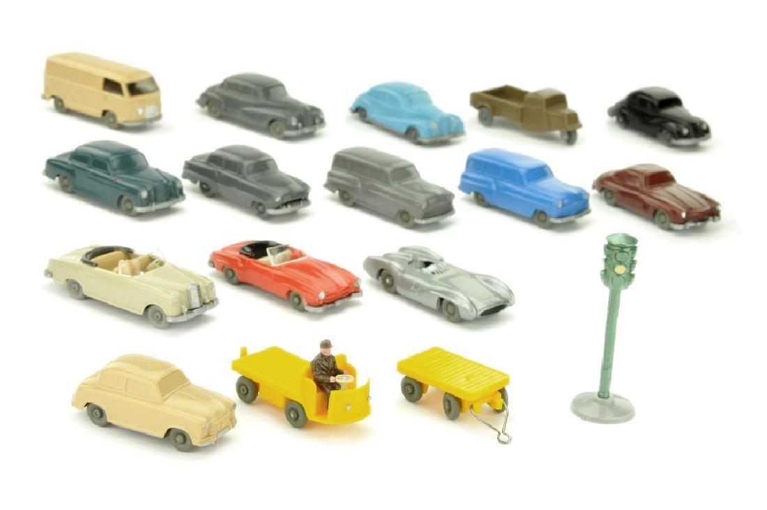 Konvolut 17 Modelle der 50er Jahre