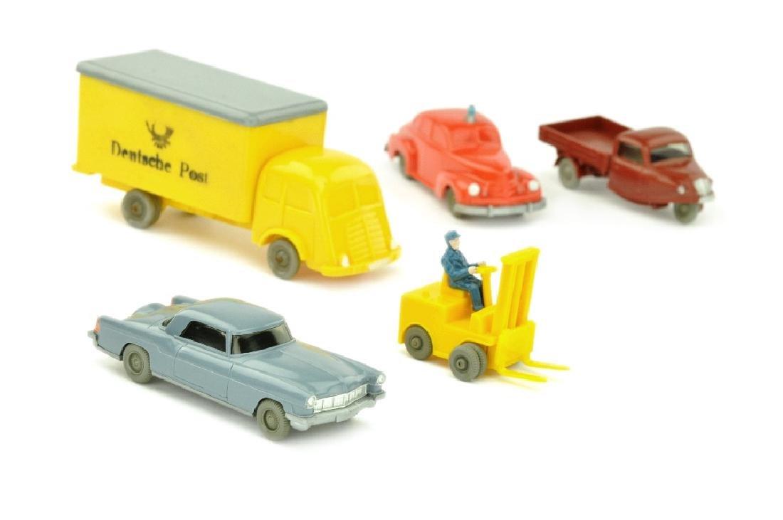Konvolut 5 Modelle der 50er Jahre