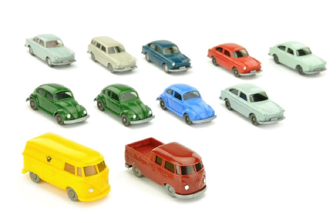 Konvolut 11 Volkwagen-PKW der 70er Jahre