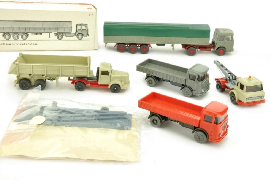 Konvolut 5+1 LKW der 60er/70er Jahre