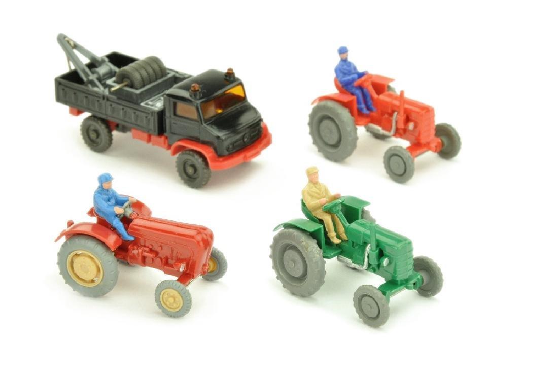 Konvolut 4 Unimog/Traktoren der 60er Jahre