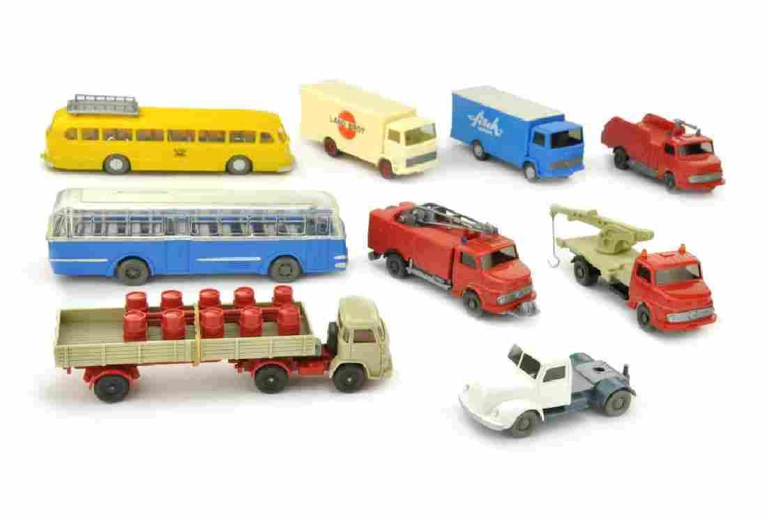 Konvolut 9 Modelle der 60er/70er Jahre