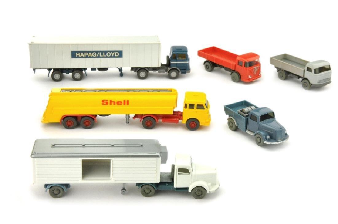 Konvolut 6 LKW der 60er/70er Jahre