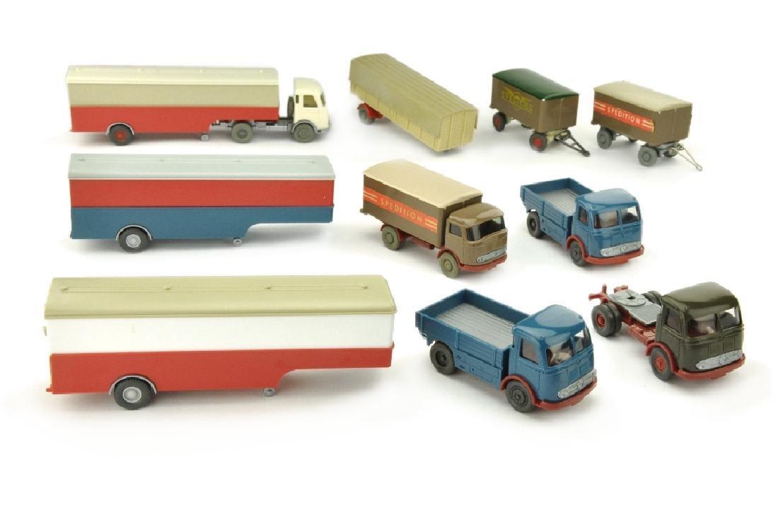 Konvolut ca. 9 Modelle der 60er Jahre