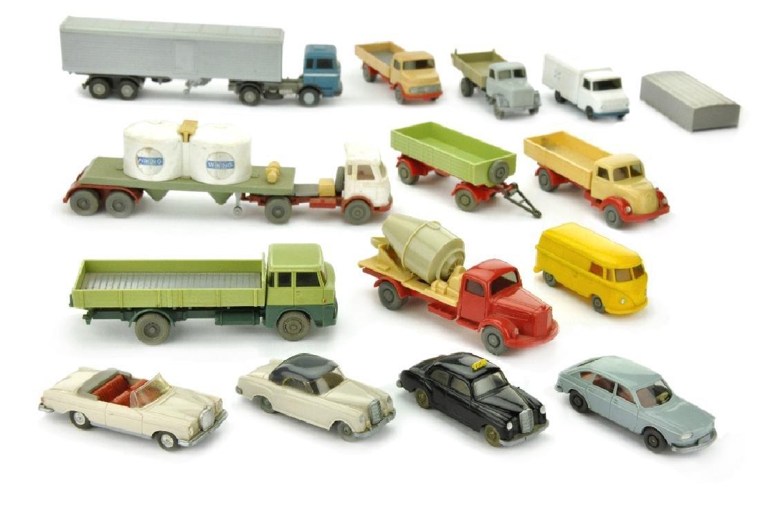 Konvolut 14 Modelle der 60er Jahre