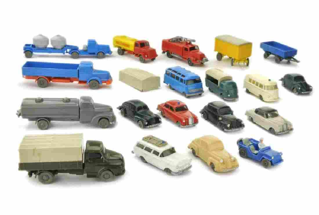 Konvolut 19 Modelle der 50er/60er Jahre