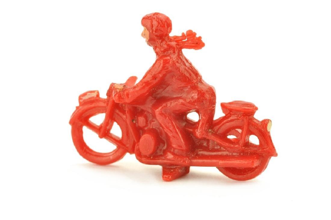 Motorradfahrer mit Beiwagen, rot - 2