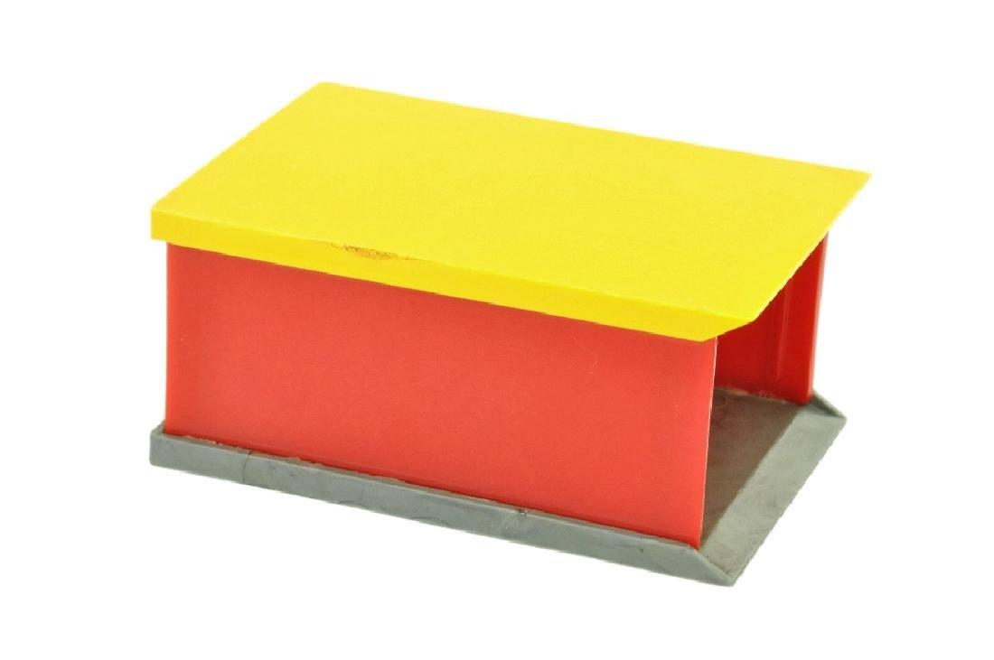 PKW-Garage, gelb/rot