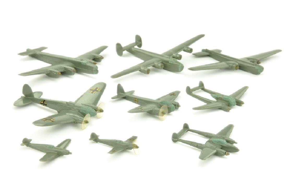 Konvolut 9 Flugzeuge (Vorkrieg)