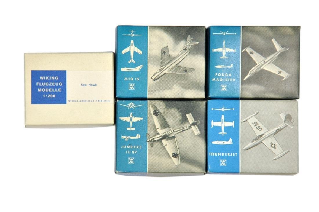 Konvolut 5 Flugzeug-Silberlinge (im Ork)