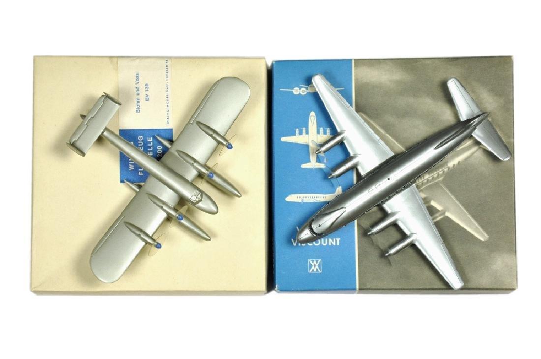 Konvolut 2 Flugzeug-Silberlinge (im Ork)