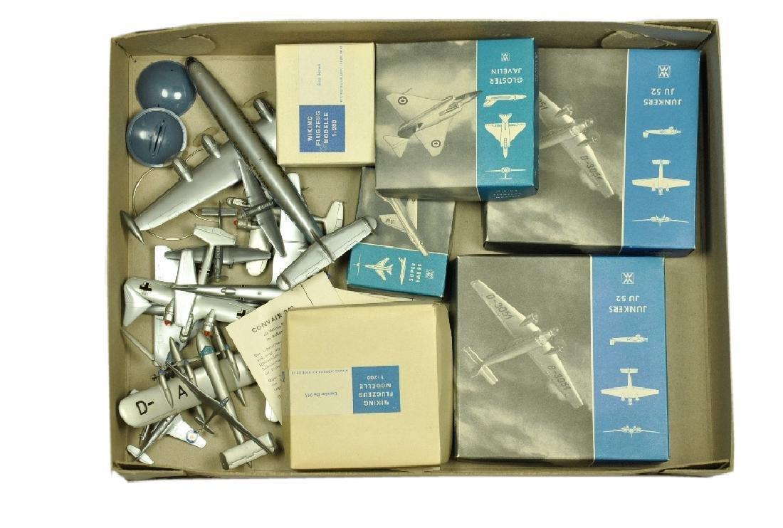 Konvolut 11 Flugzeug-Silberlinge
