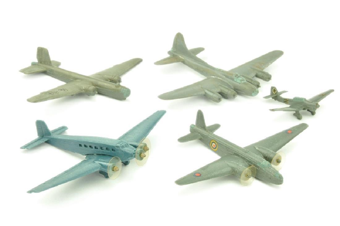 Konvolut 5 Flugzeuge (Vorkrieg, 2.Wahl)