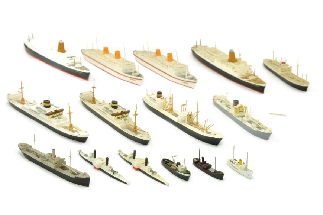 Konvolut 15 Zivilschiffe (Nachkrieg)
