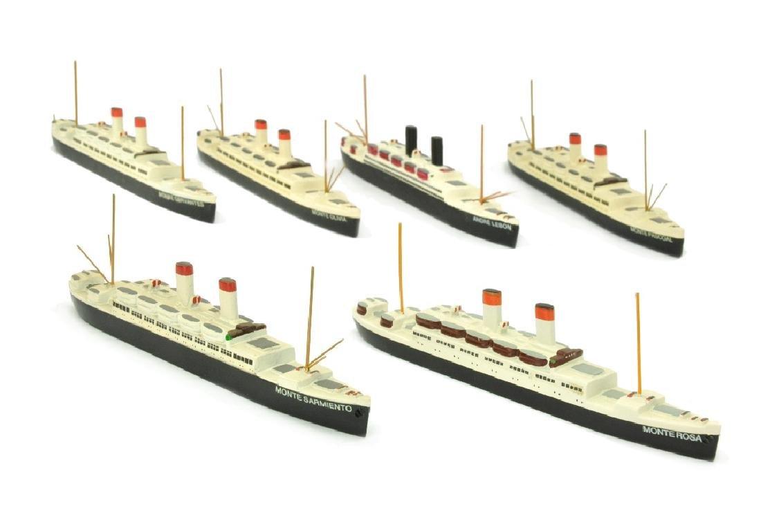 Konvolut 6 Passagierschiffe (Dr. Grope)