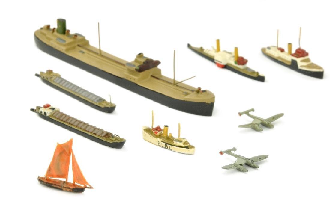 Konvolut 7+2 Zivilschiffe (Vorkrieg)