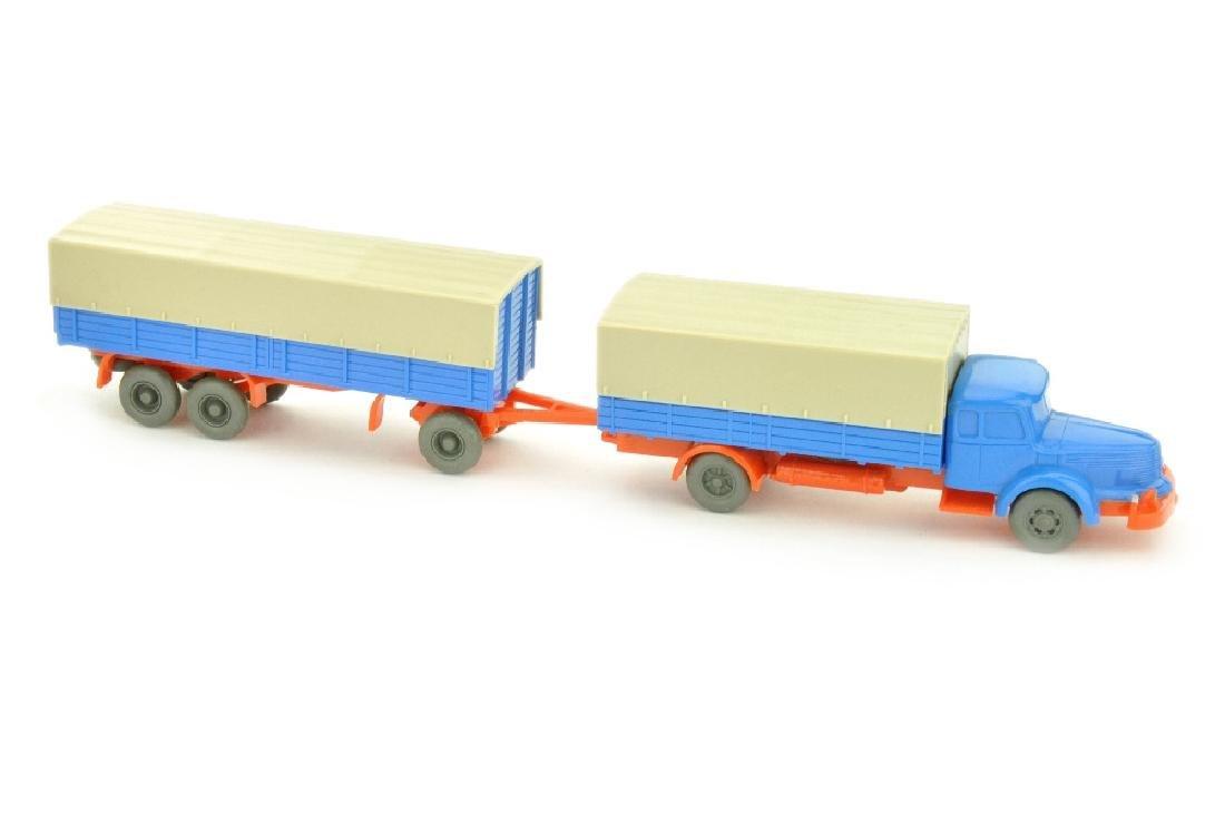 Pritschenzug Krupp-Titan, himmelblau/leuchtorange