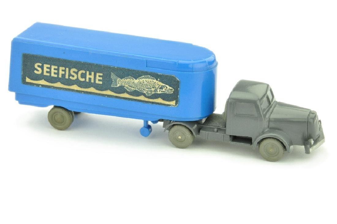 Sattelzug Henschel Seefische, himmelblau