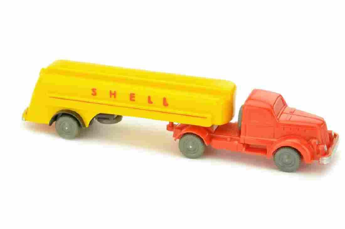 Shell-Tanksattelzug White, orangerot