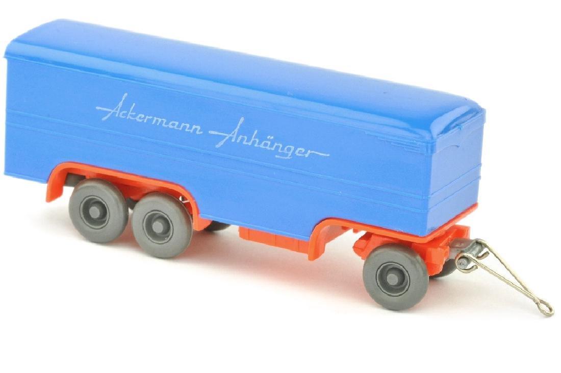 Ackermann-Anhaenger, himmelblau/leuchtorange