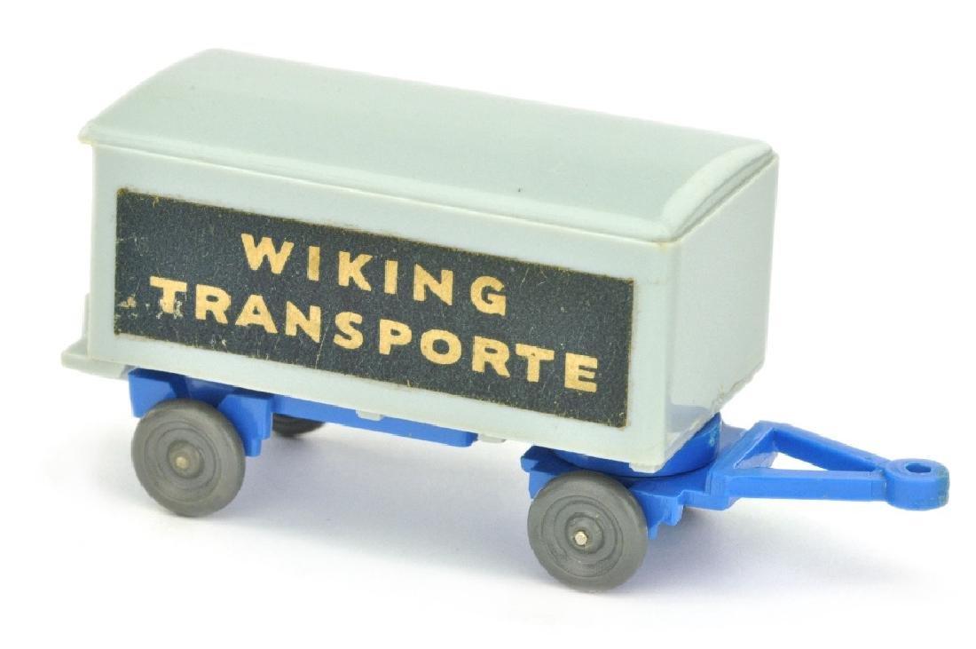 Anhaenger Wiking-Transporte, silbergrau/himmelbl.