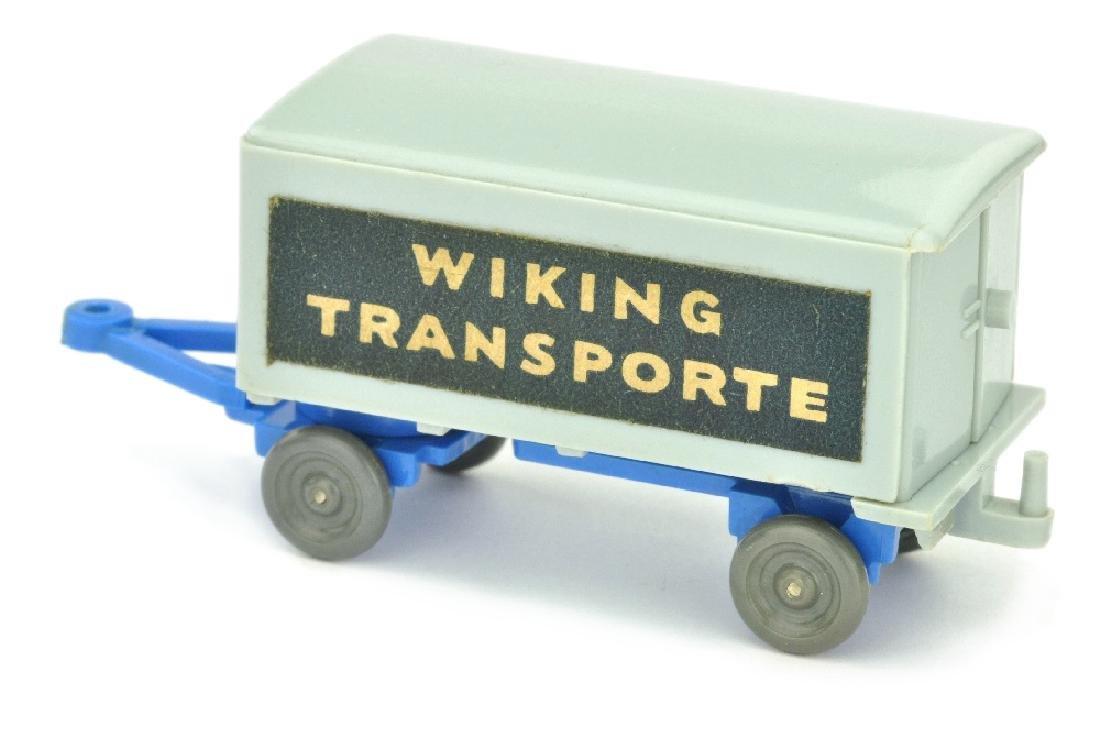 Anhaenger Wiking-Transporte, silbergrau/himmelbl. - 2