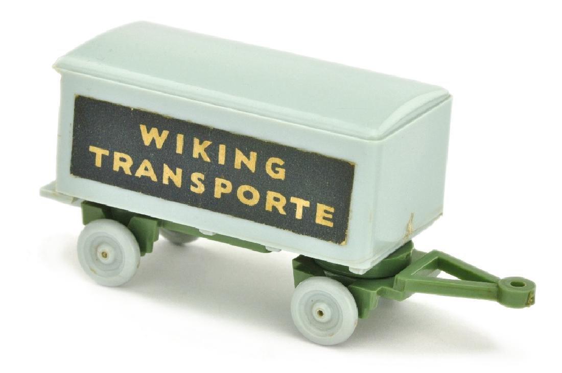 Anhaenger Wiking Transporte, silbergrau/d'maigruen
