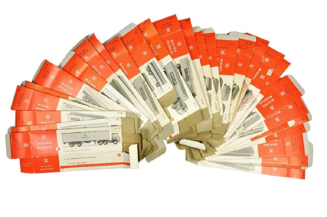 Konvolut 30 leere Originalkartons der 70er Jahre