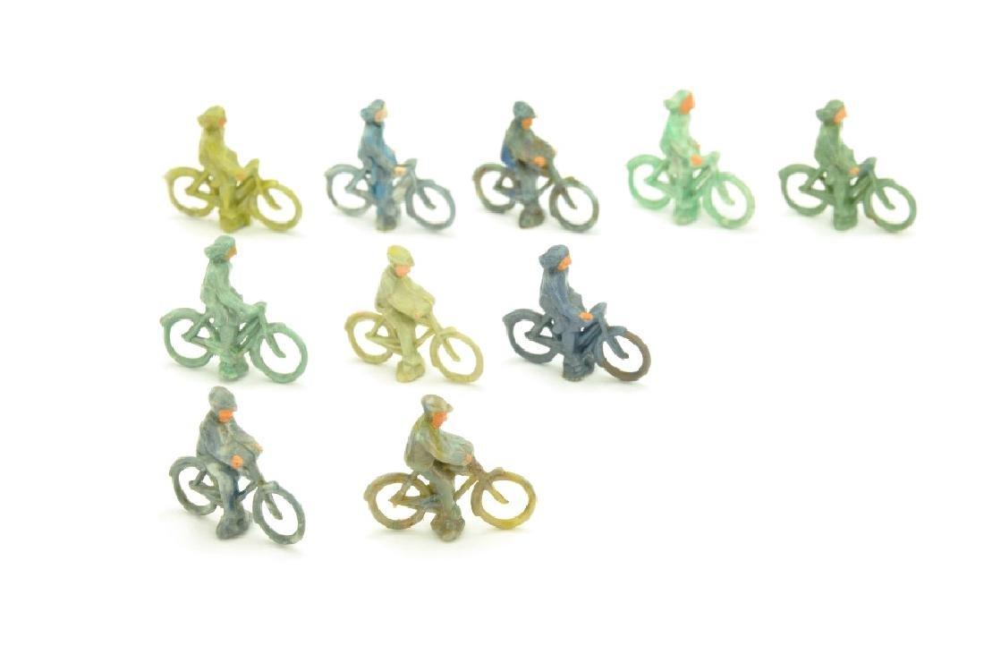 Konvolut 10 Radfahrer der 50er Jahre