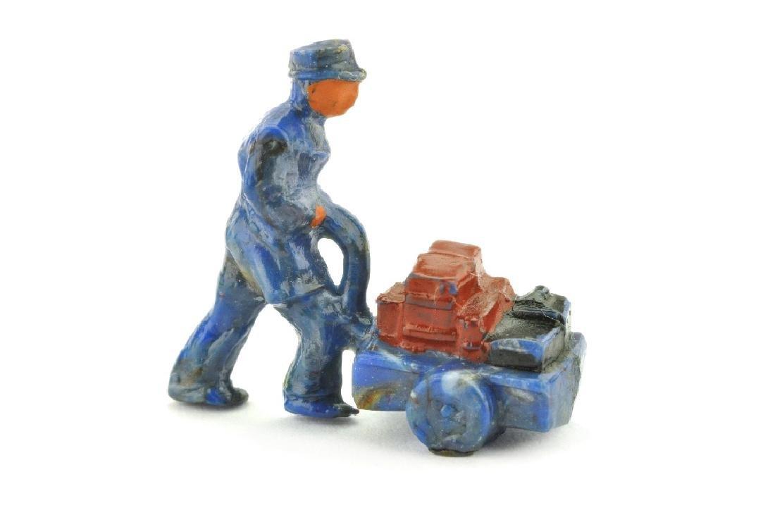 Handwagenfahrer (Typ 1), misch-blau