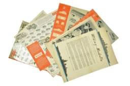 Konvolut 81 Preislisten 1957 bis 1968
