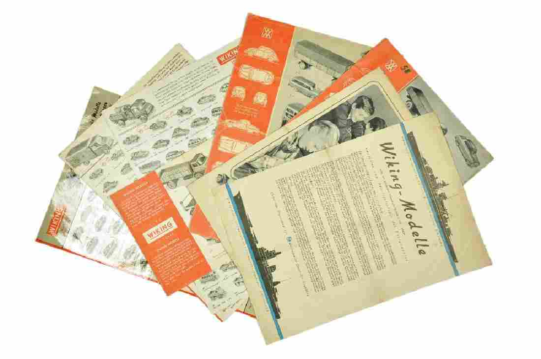 Konvolut 8+1 Preislisten (1957 bis 1968)