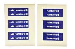 Restposten Aufkleber fuer Hamburger Spedition