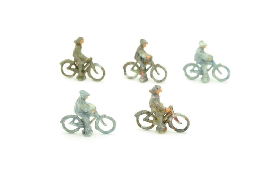 Konvolut 5 Radfahrer der 50er Jahre