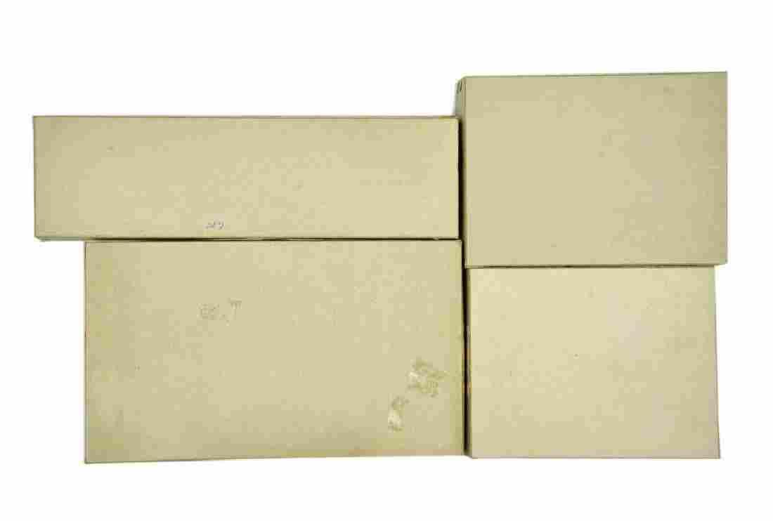 Konvolut 4 leere Haendlerkartons der 60er Jahre