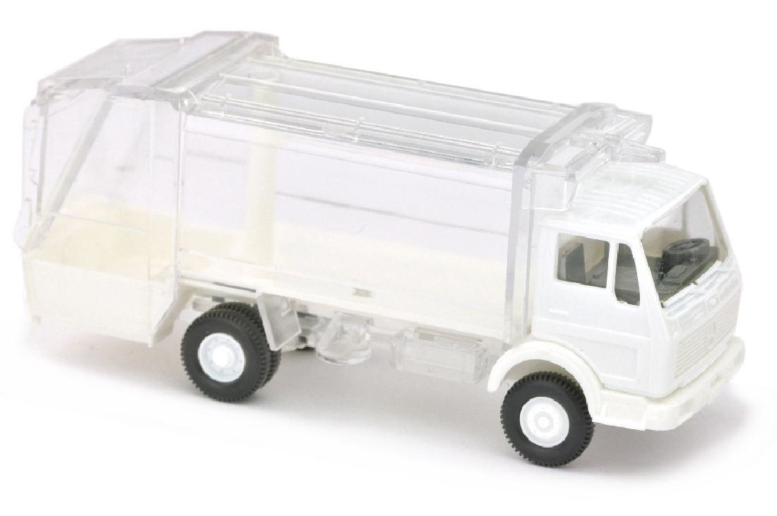 Pressmuellwagen MB 1619, weiss/transparent