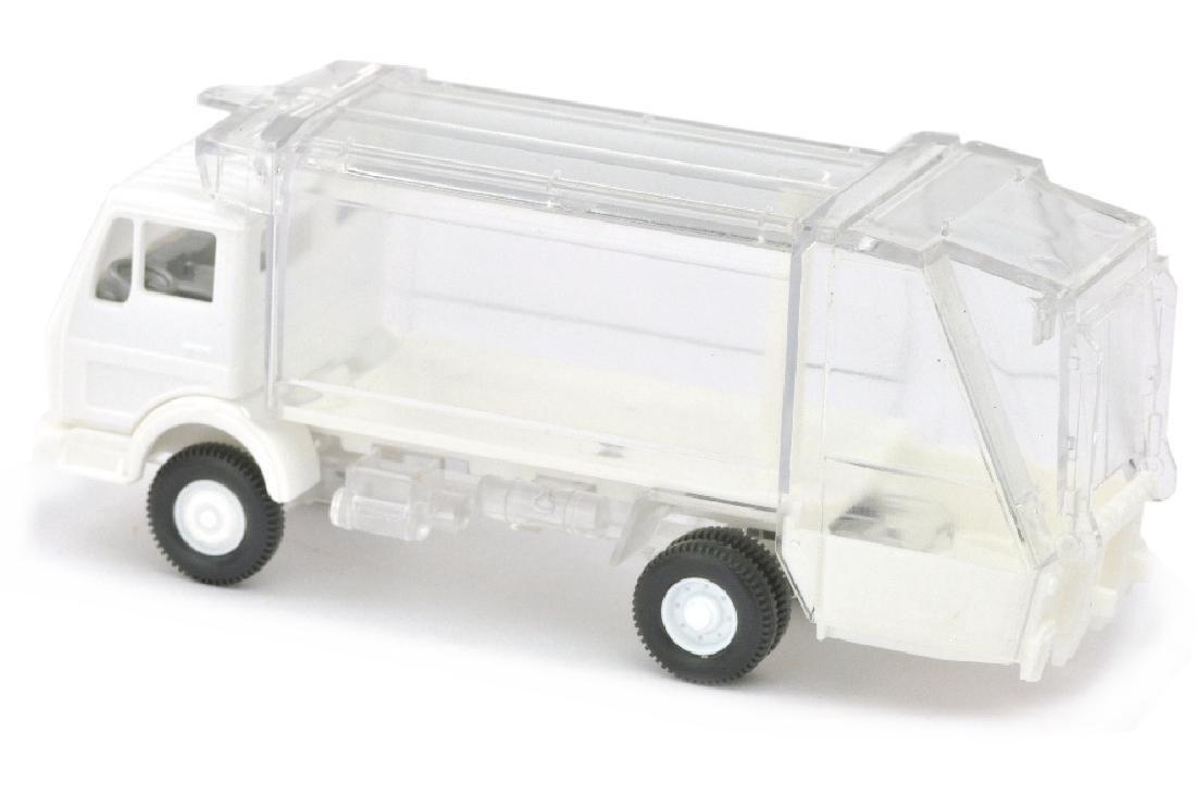 Pressmuellwagen MB 1619, weiss/transparent - 2