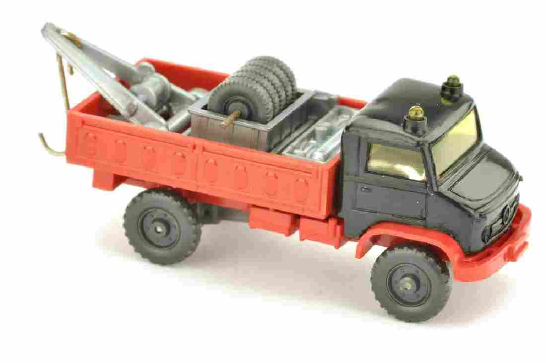 Unimog Werkstattwagen, schwarz/rot (2 Gelbl.)