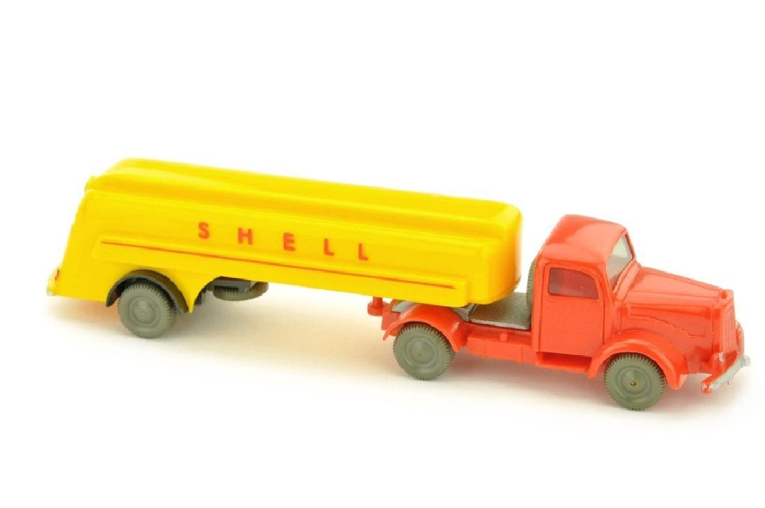 Shell-Tanksattelzug MB 5000, orangerot