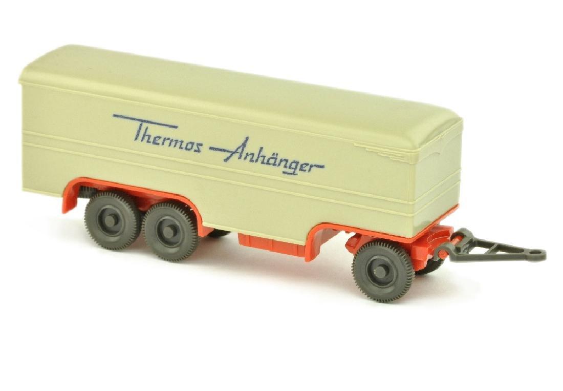 Thermos-Anhaenger, hellgelbgrau/orangerot
