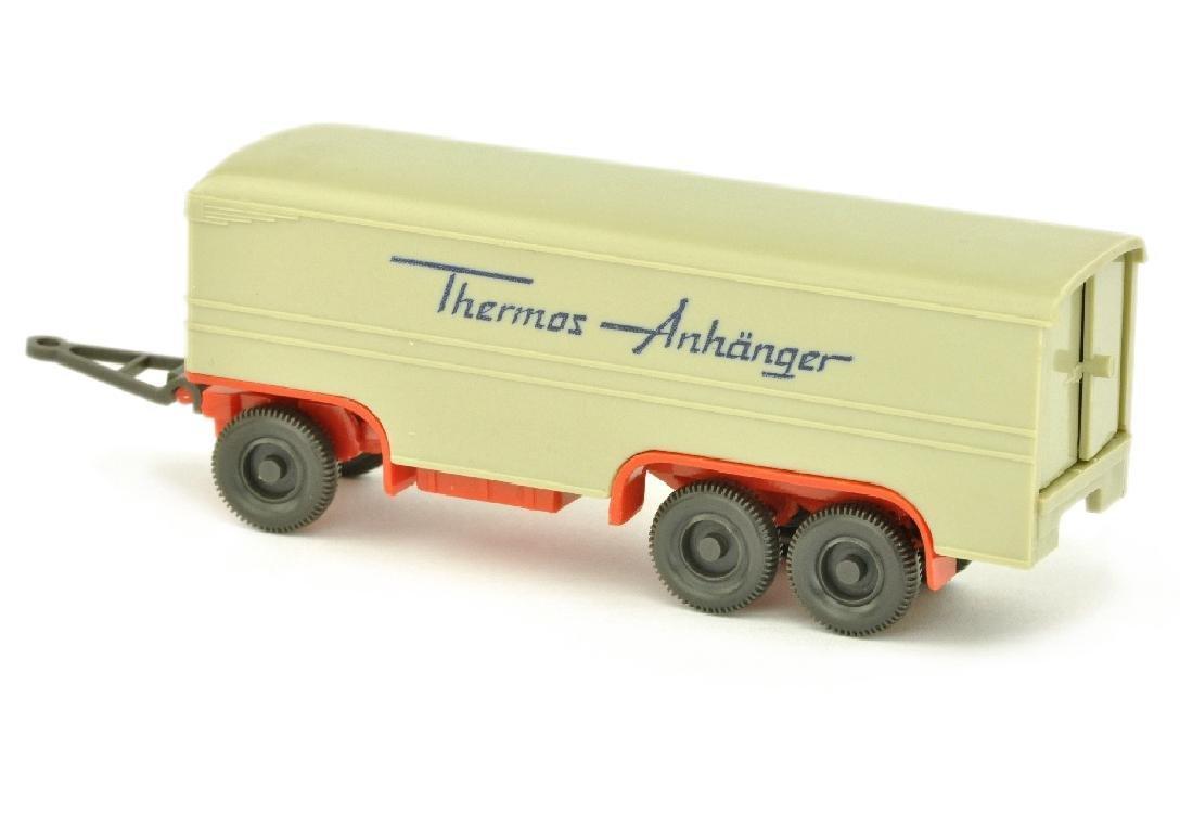 Thermos-Anhaenger, hellgelbgrau/orangerot - 2