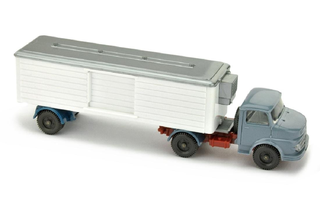 Kuehlsattelzug MB 1413 ohne Luefter, graublau