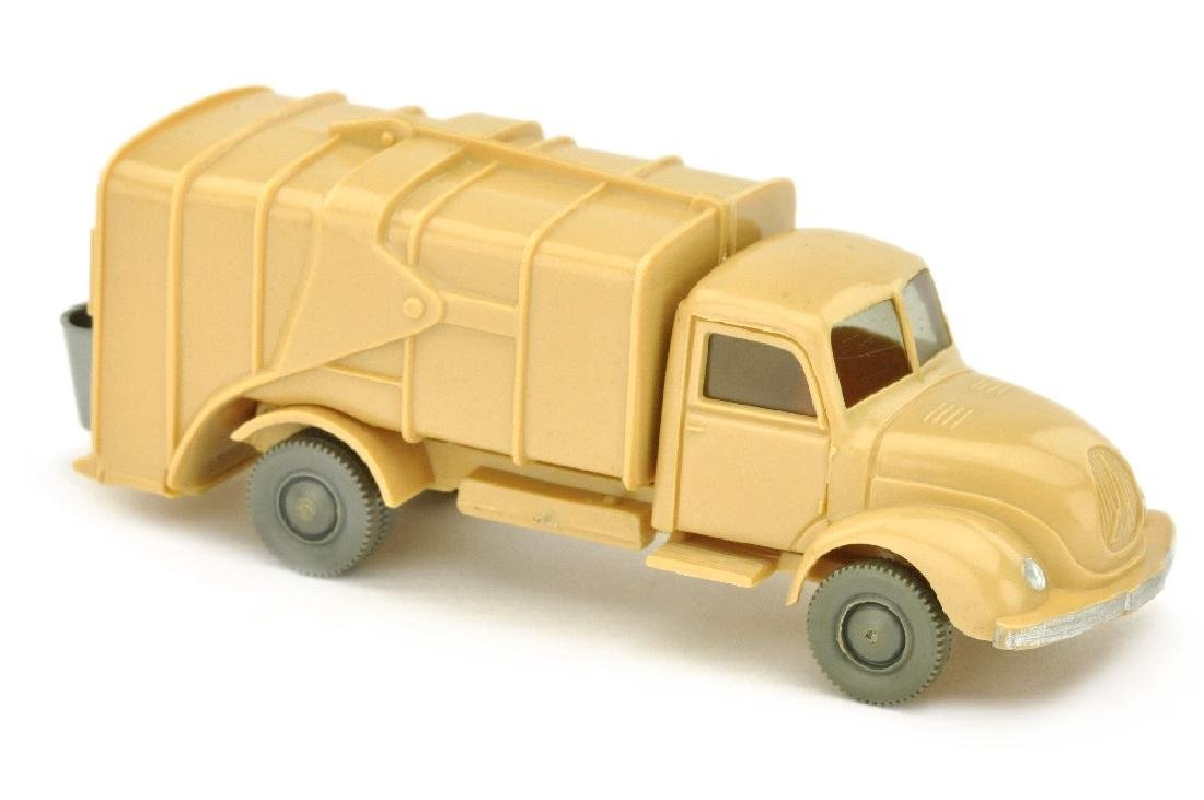 "Muellwagen Magirus, beige (Bodenpraegung ""WM"")"