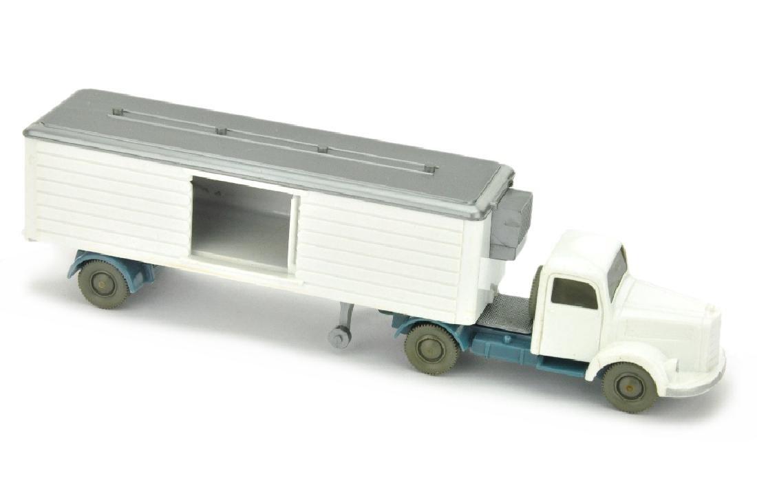 Kuehlsattelzug MB 3500, weiss/mattgraublau