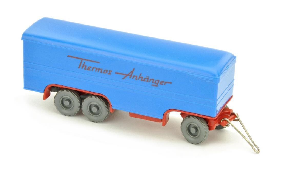 Thermos-Anhaenger, himmelblau/rot