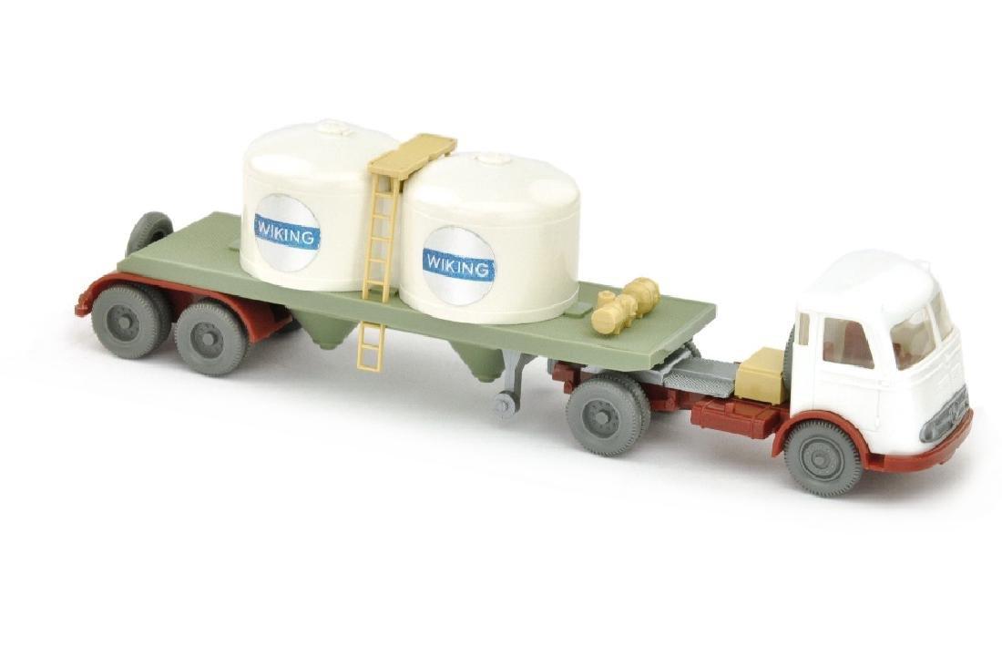 Chemikalien-Tankzug Pullman Wiking, weiss